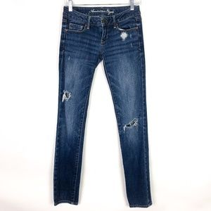 American Eagle Outfitters Jeans - American Eagle Distressed Skinny Jeans Medium Wash